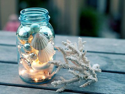 Coastal Christmas Decor- Here are a few simple #DIY projects you can do to have a very merry #coastal #Christmas!