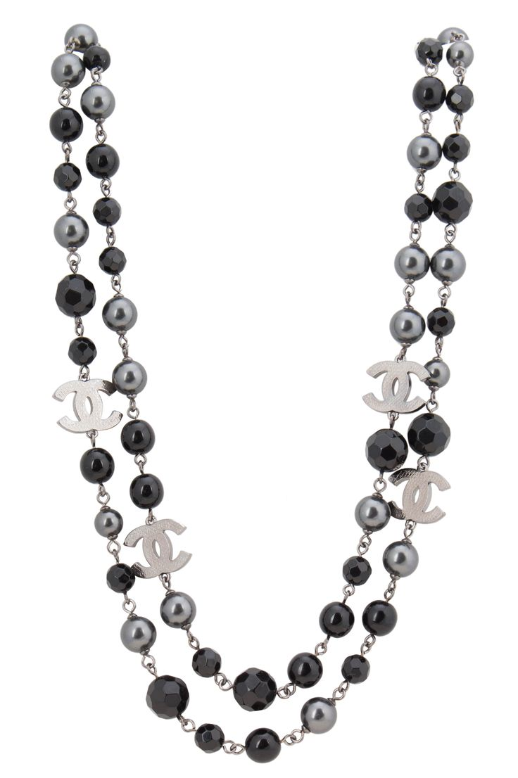 Chanel Black Pearl CC Necklace