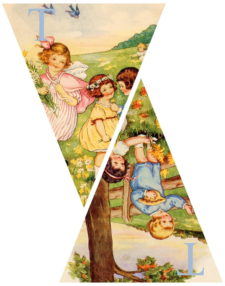 Story Book Spring Time Pennant Banner