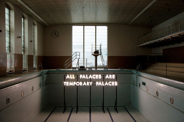 All Palaces Are Temporary Palaces by Robert Montgomery on Curiator - http://crtr.co/21r