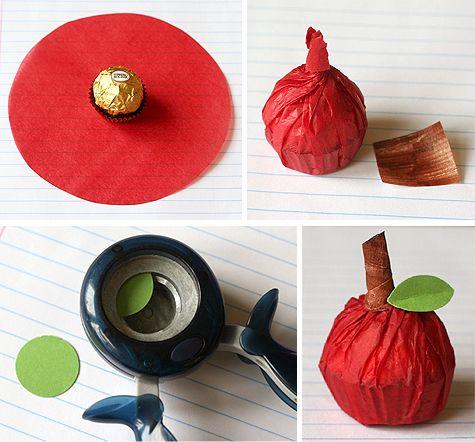 Ferrero Rocher apples - pumpkins would be cute too