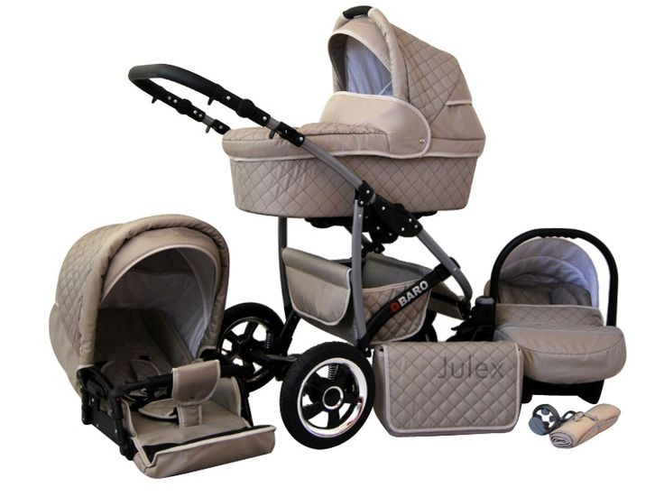 You can get three items for the price of one with the Qbaro travel system : a stroller, a pram, and a car seat that comes complete with all sorts of accessories for your baby.