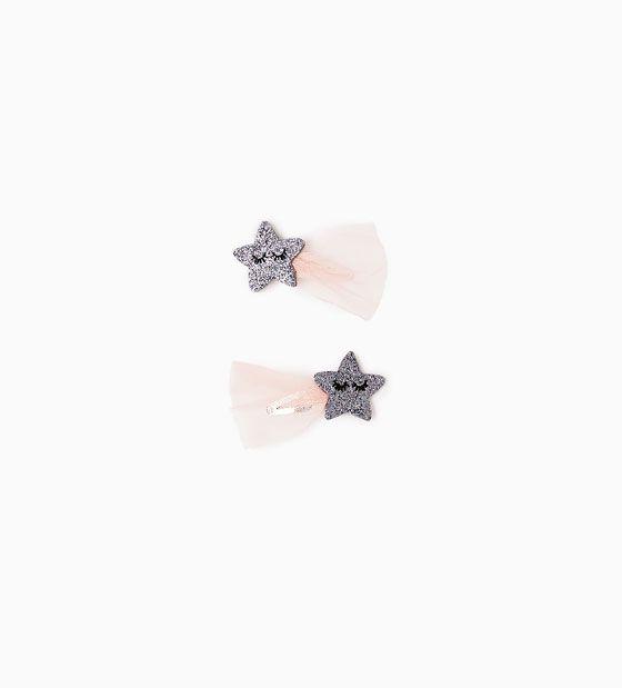 Billede 1 af Sæt med hårklips med stjerner fra Zara
