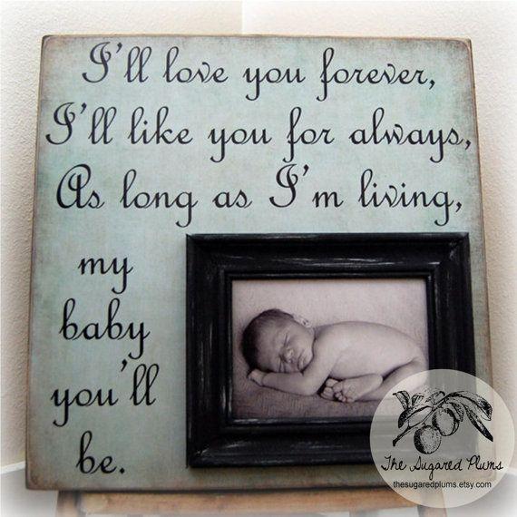 I love this beautiful baby wall art