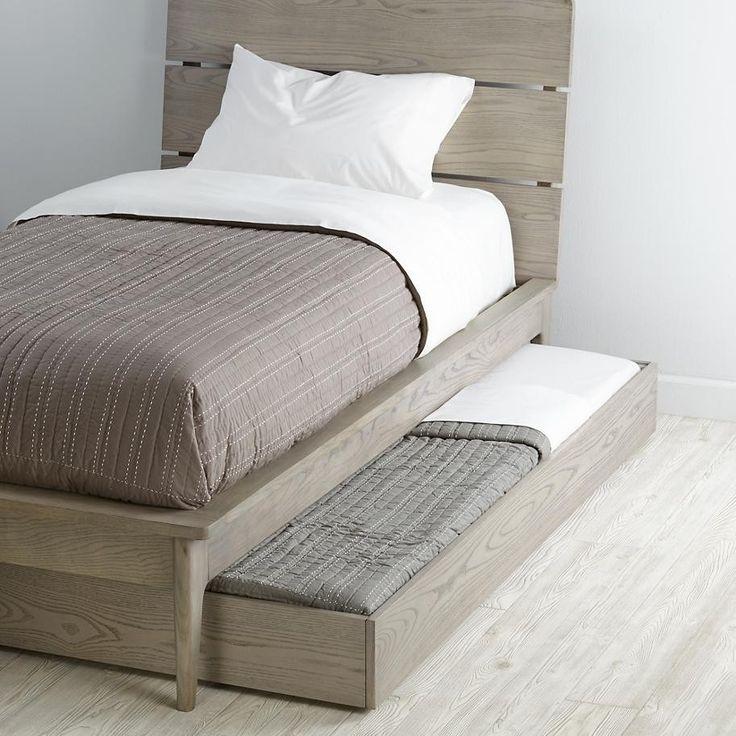 base cama doble con cama o cajon bajo de madera individual