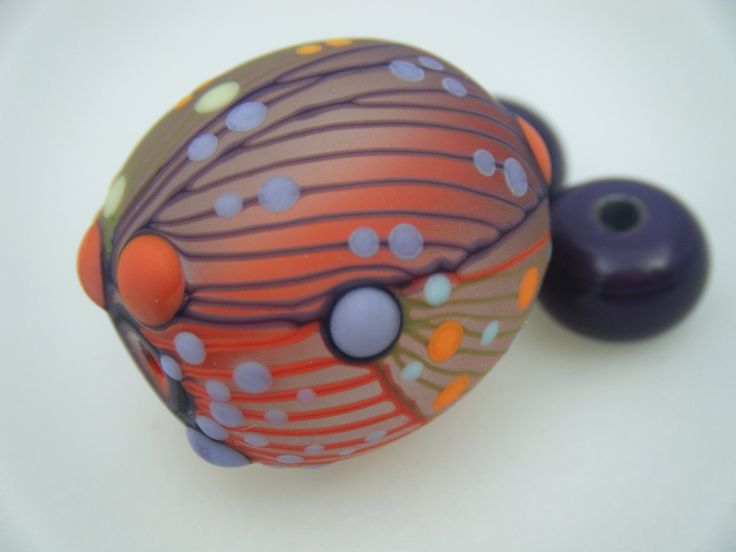 Moogin Beads- Detailed abstract focal , lampwork / glass bead set   - SRA by mooginmindy on Etsy
