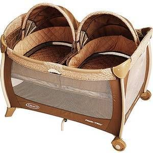 Graco Pack 'n Play Playard with Twins Bassinet | Portable and Space