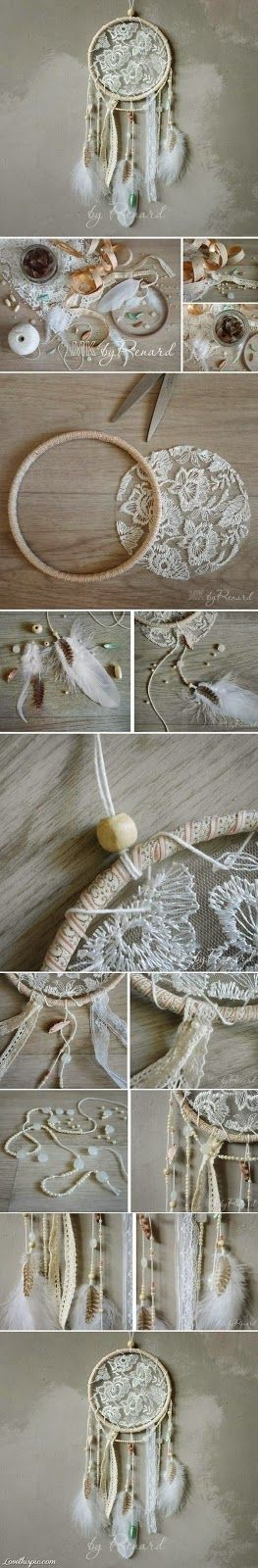 Beautiful Creations by Bece: Lace Dream Catcher!