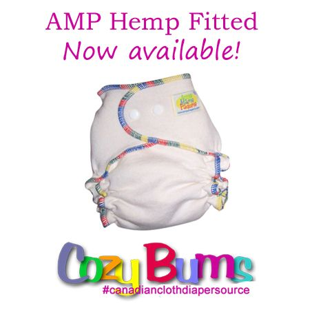 AMP Hemp Fitted Diaper In Stock!