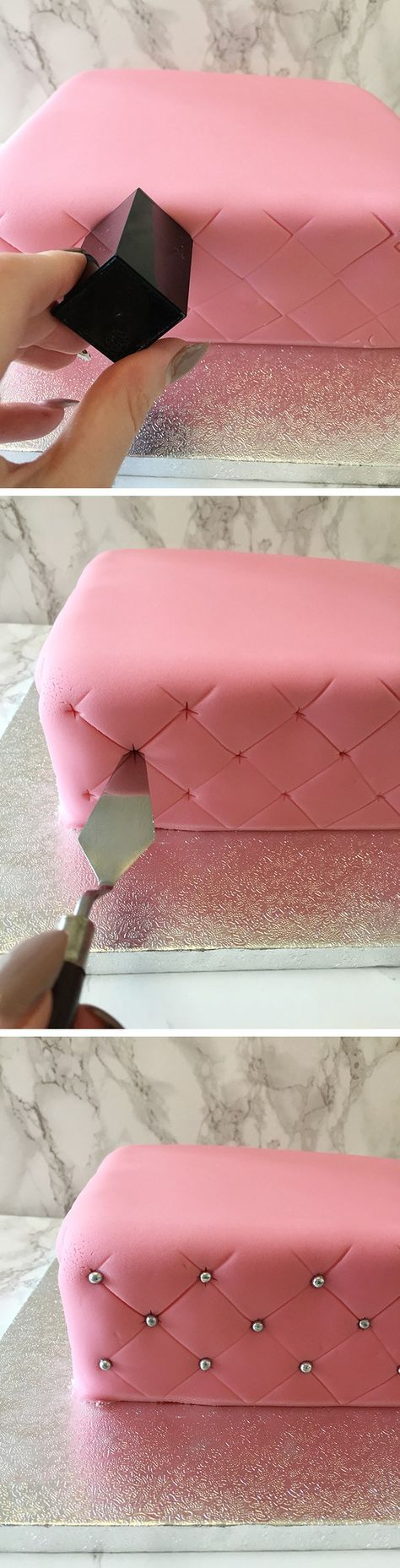 how to create a super simple quilted effect cake