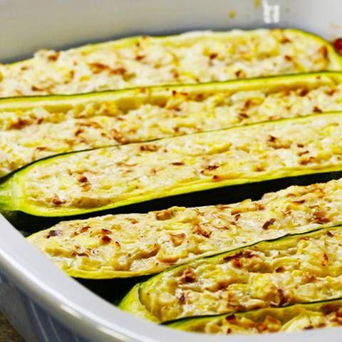 Vegetarisch gefüllte Zucchini   BRIGITTE.de
