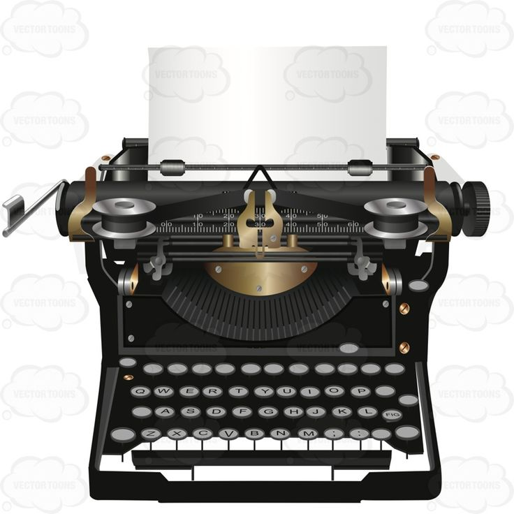 Classic Typewriter With Paper In It #choice #classic #classical #mature #old #rare #retro #type #typewriter #typing #vintage