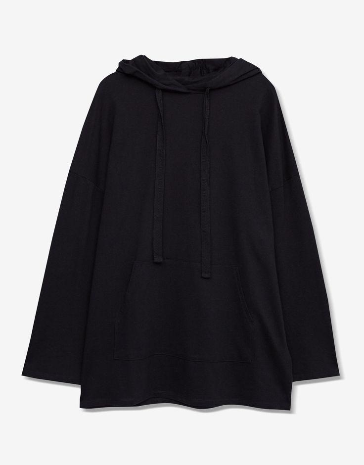 Толстовка объемного кроя с капюшоном - - Базовые - Одежда - Для Женщин - PULL&BEAR Российская Федерация