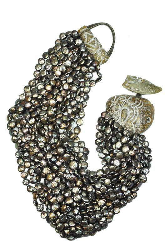 Monies pearl necklace - brown...I loved trying this on!