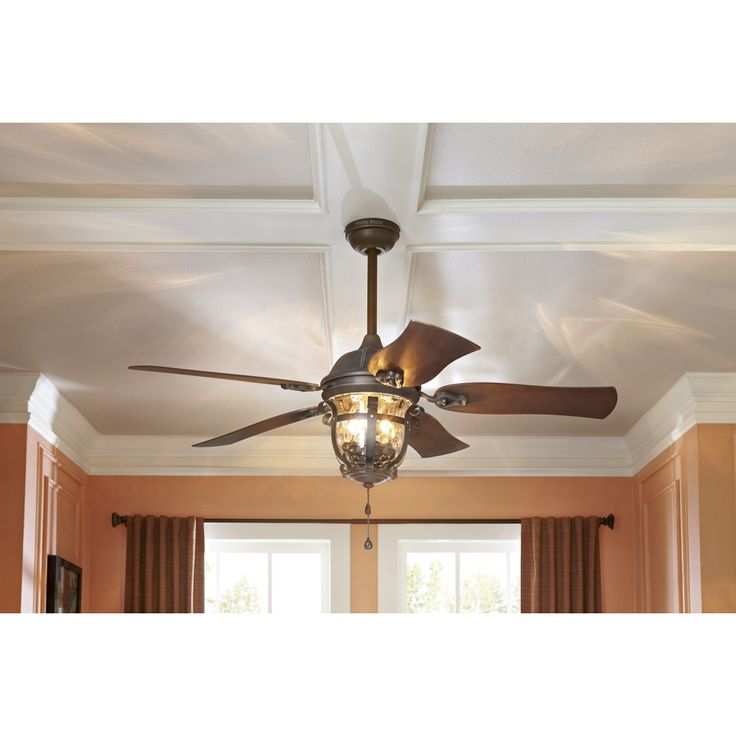Harbor Breeze Lake Placido 52 In Aged Iron Outdoor Downrod Or Flush Mount  Ceiling Fan