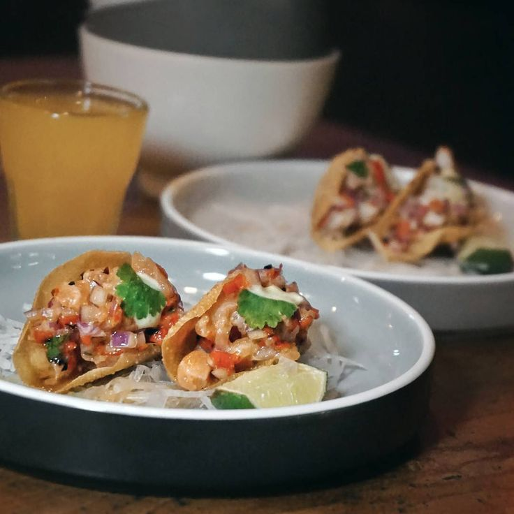 #Bali. It's Taco time!! Try this Salmon and Shrimp taco from @OneEyedJack.Bali it's bite size with big flavors