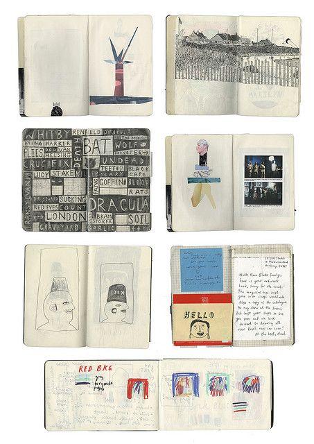 sketchbooks by rose blake, via Flickr