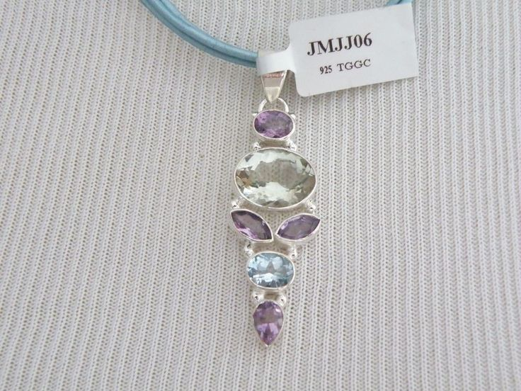 New 20CT Natural Iolite Amethyst Blue Topaz Sterling Silver Pendant Necklace #designer #Pendant #haute #couture #fashion #chicagowho #fashionista #fashionlover #dress #gown #stunning #embellishment #shine #shimmer #picoftheday #photooftheday #louboutin #photoshoot #diamonds #shoestagram #weddingphotography #shoelove #hautecouture #wedding #weddingshoes #weddinginspiration #weddinggowns #silver #shoes #blackkeep #jewelry #rings