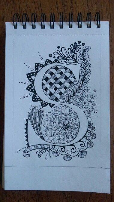 Zentangle letter - S