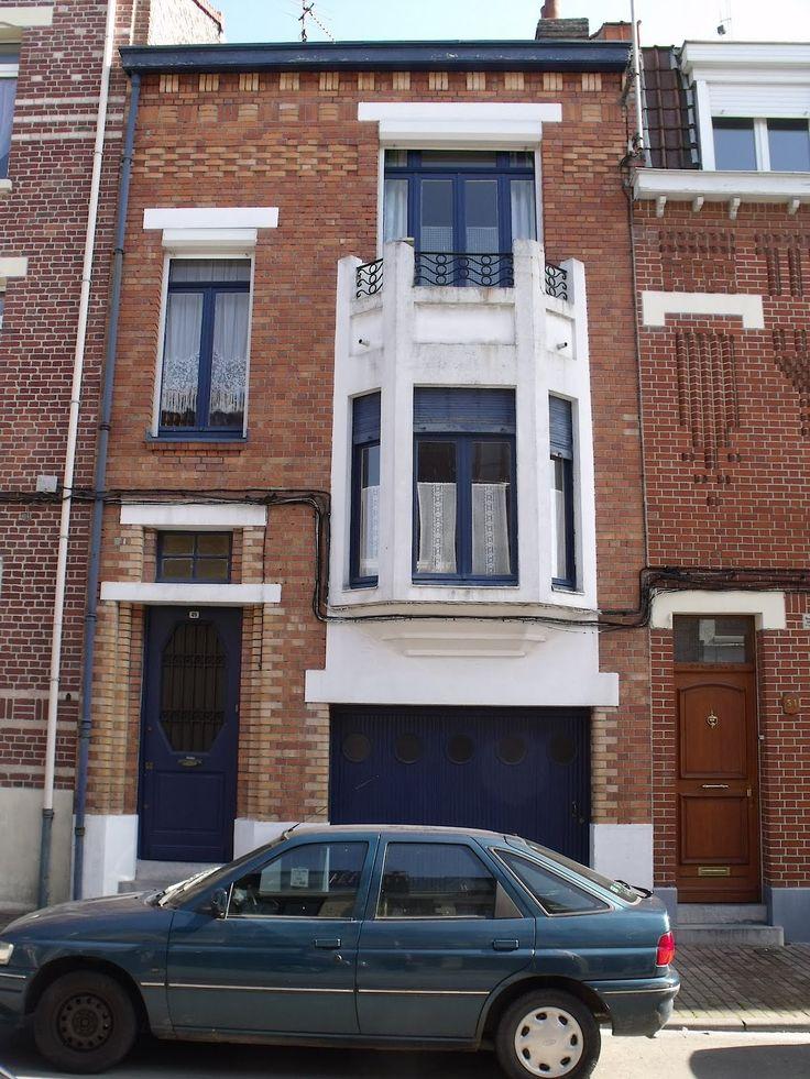 Lille, l'art nouveau et l'art déco: Lille Fives, Rue Chappe