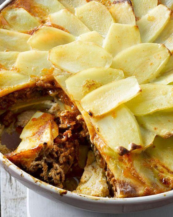 Moussaka (aardappelen)