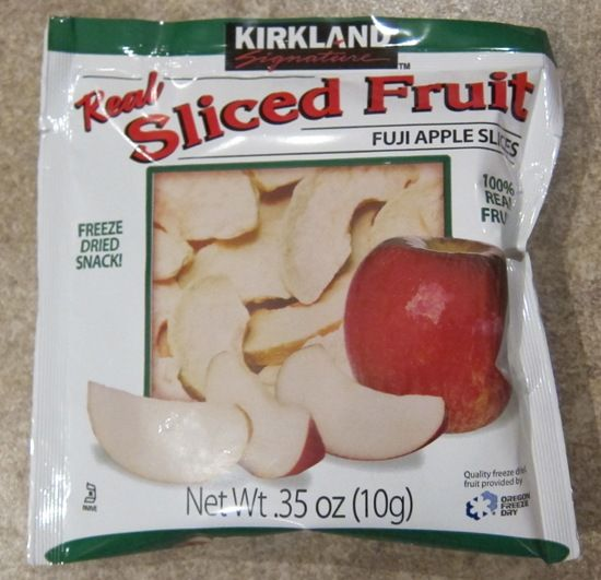 Costco sells these convenient freeze dried fruit snacks that are very healthy and tasty.  It's called Kirkland Real Sliced Fruit, and there are 20 single-serve snack pouches in a Costco box.  Kirkland Real Sliced Fruit freeze …