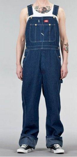 salopette en jean pour homme, coloris bleu indigo