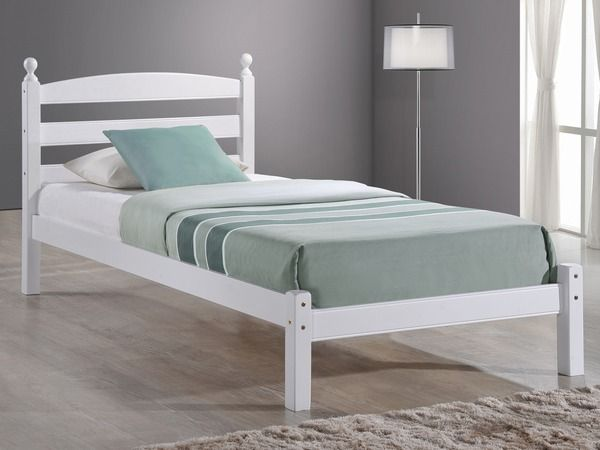 Birlea Oslo Single White Wooden Bed Frame White Wooden Single