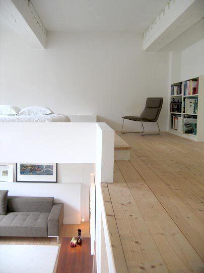 Die 25 besten mini loft ideen auf pinterest schlafzimmer im zwischengeschoss mezzanin und - Nicolas kleine architect ...