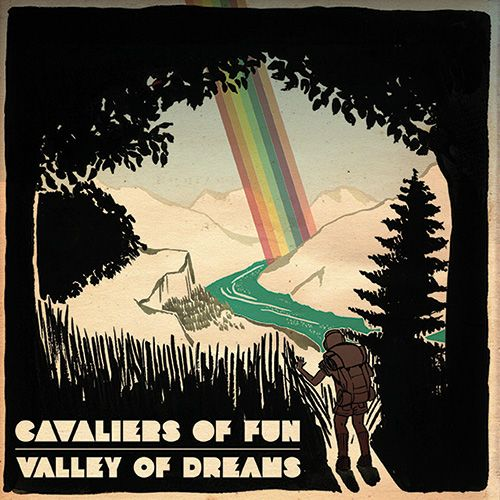 Illustration made for the album cover of the new Cavaliers of Fun's EP – Valley of Dreams. * Valley of Dreams * Mixed Media – Adobe Photoshop + pigmented ink pens + textures * Joana Ray 2013