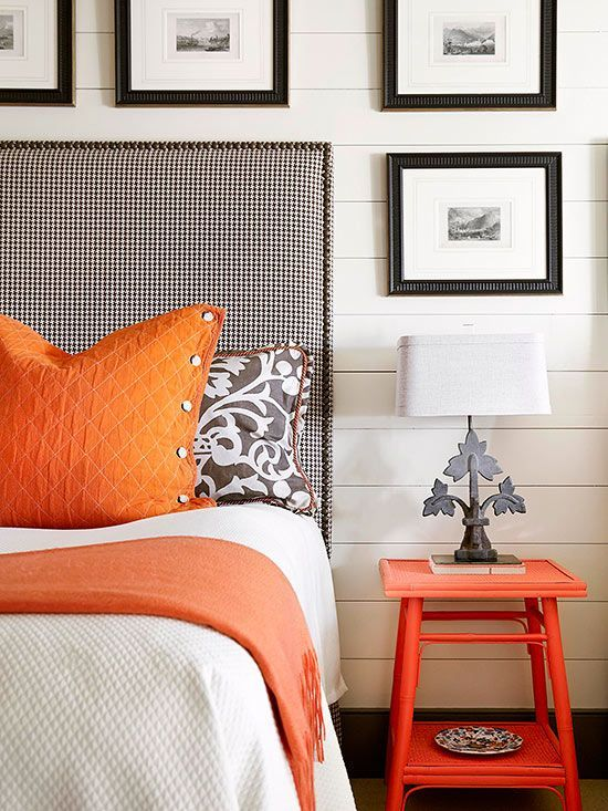 58 best colour at home orange images on pinterest for White and orange bedroom designs