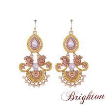 Verano estilo bohemio con cuentas pendientes de gota para mujeres Classic Jewelry para el partido Boho del estilo cristalino del oro cuelga los pendientes Bijoux(China (Mainland))