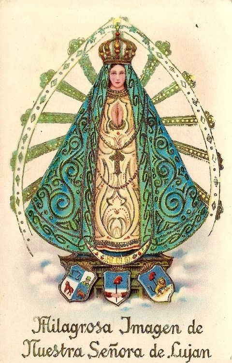 Nuestra Señora de Lujan  A devotional image of Our Lady of Lujan, the patroness of Argentina.