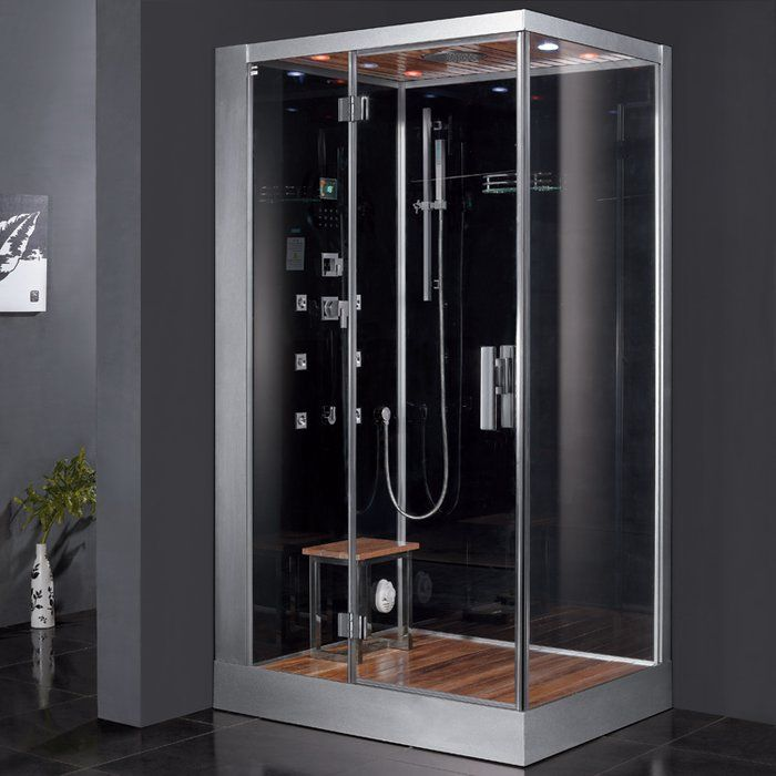 Platinum 47 X 84 6 Rectangle Hinged Steam Shower With Base