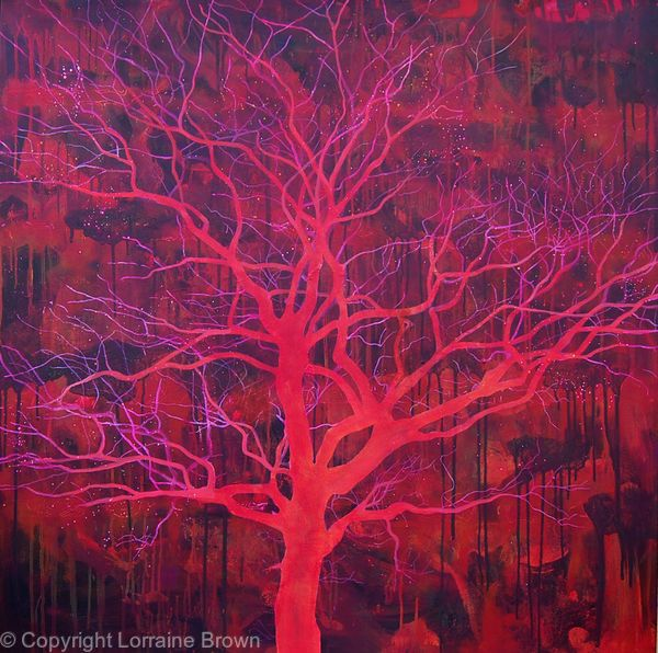 Red Tree - Acrylic on Canvas