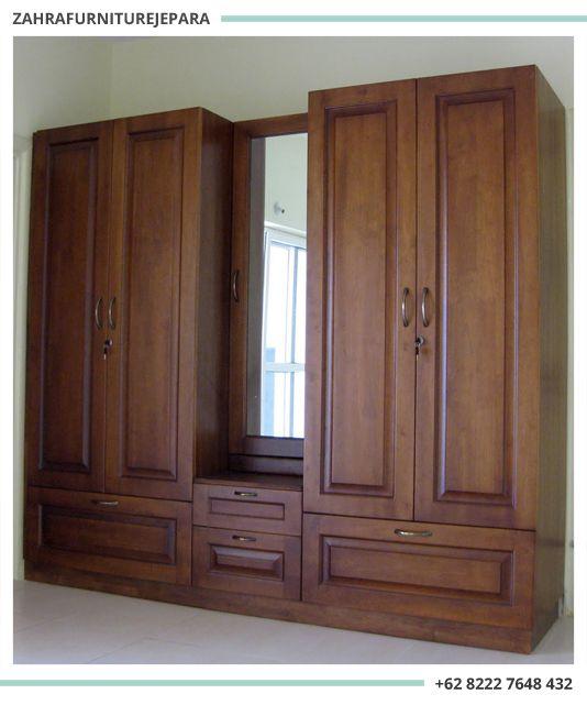 Lemari Pakaian Jati Minimalis Jepara Interior Rumah Lemari