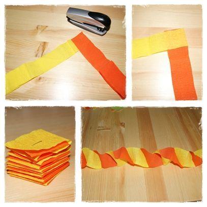 Faire une guirlande en papier crépon