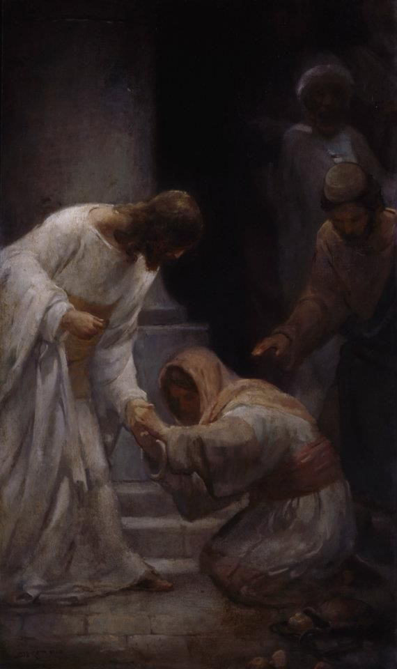 """""""And, behold, a woman, which was diseased with an issue of blood twelve years, came behind him, and touched the hem of his garment: For she said within herself, If I may but touch his garment, I shall be whole. But Jesus turned him about, and when he saw her, he said, Daughter, be of good comfort; thy faith hath made thee whole. And the woman was made whole from that hour"""" (Matt. 9:20-22)."""