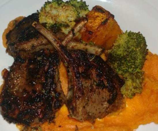 Recipe BALSAMIC LAMB CUTLETS WITH SWEET POTATO MASH by MGJG - Recipe of category Main dishes - meat