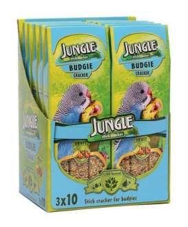 JUNGLE MUHABBET KUŞLARI İÇİN MEYVELİ KRAKER 3'LÜ  Muhabbet kuşları için, ihtiyaç duydukları besleyici maddeleri içeren, üç adet, vitaminli meyveli krakerdir.   * Tüylerin parlaklık kazanmasını sağlar. * Kuşunuzun hayat kalitesini artıran tüm besinsel değerlere sahiptir. * Kuşunuza ekstra canlılık kazandırır.