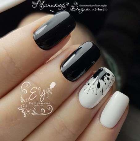 Nails black white nailart 55+ ideas