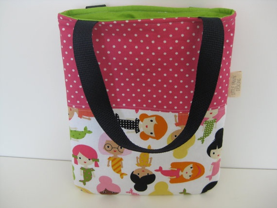 Mermaid Friends Mini Tote Bag by LittleFawnDesigns on Etsy, $25.00