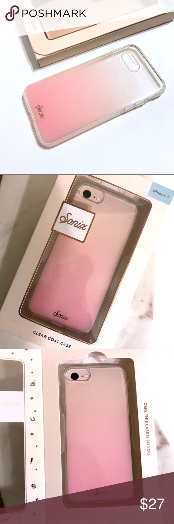 🖤 SONIX iPhone 7 / 8 case Brand new. Never used. Was a gift but I have 7plus so can't use it. 😭 Designed to perfectly fit all iPhone 7 / iPhone 8 Military Drop Test Certified (UL) - Ruggedized 360 ̊ form factor provides complete protection around all sides of the phone Slim and lightweight with anti-scratch UV coating, raised shock absorbent rubber sides with easy press-protected buttons for streamlined usability Fashion forward, thoughtfully designed, and precision-crafted SONIX…