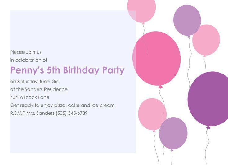 17 Free Birthday Invitation Designs Party Invite Template Printable Birthday Invitations Birthday Party Invitations Printable