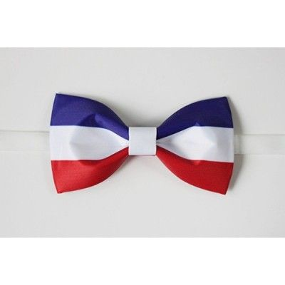 Handmade France National Flag Bow Tie