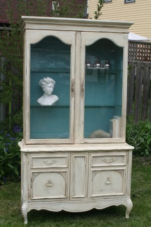 French Provincial Hutch & Buffet by Refabulated
