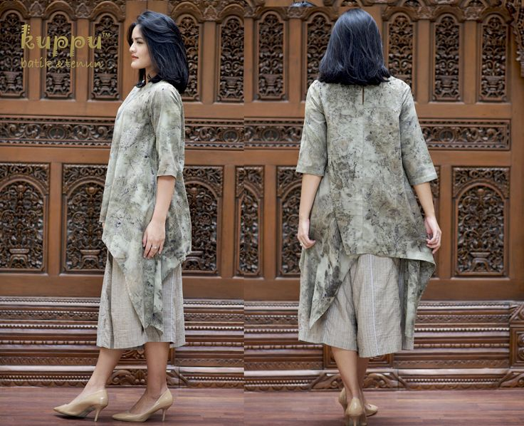 .Disc 10% s/d 5 Februari 2017 TREE-OF-LIFE TOP - DUSTY GREEN by: Kuppu Batik & Tenun  1.050.000,00  Details: - 100% cotton, natural-dye fabrics using natural cherry  leaves & steam techiques from Bali, Indonesia - Loose Medium size Top: Arm 48cm, Bust 100cm, front side  is 69cm long from highest shoulder point - Dry clean or hand wash with mild soap only - hang to dry,  avoid direct sunlight - low heat iron on batik tenun part  Untuk info detail bisa hub  Laura 08119103668 Pin BB 751E6162