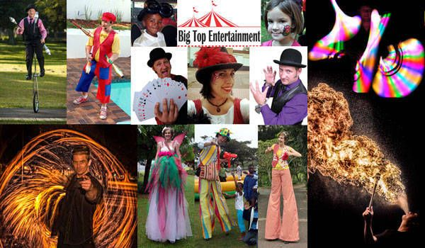 Big Top Entertainment in Durban will source any kind of entertainer you need for your event, including clowns, magicians, stilt walkers and more http://jzk.co.za/1qm