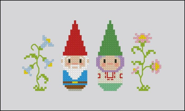David the Gnome - Cartoons - Mini People - Cross Stitch Patterns - Products