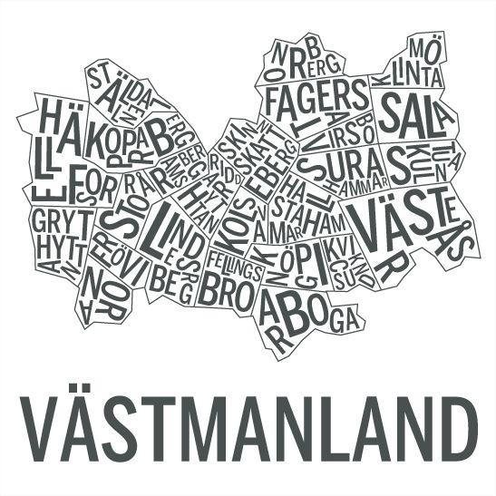 Västmanland i färgen grafit
